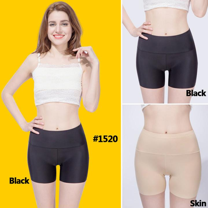 WLSD 3PCS/lot Women High Waist Safety Short Pants Slimming Panties Seamless Boyshorts Silk Lady Boyshort Nylon Women Boxer