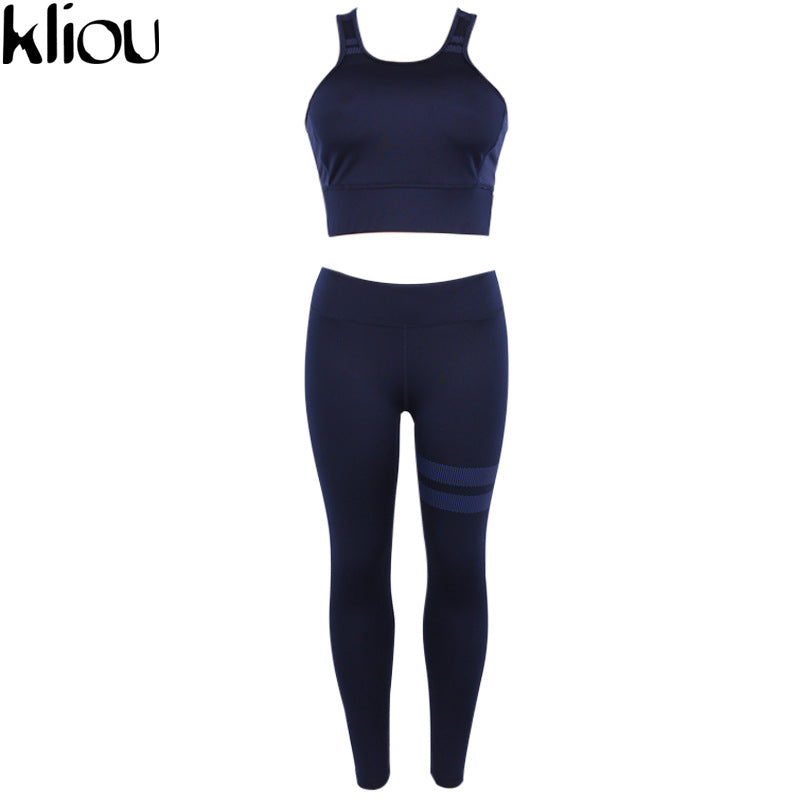 Weirdgirl Women print Striped Fitness Tracksuit Women Vintage 2 piece Set Padded Corp Top Long leggings Casual Womens Sets