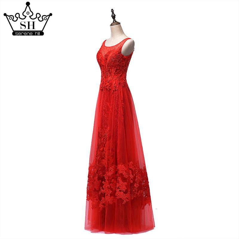 Fashion Sexy Slim Evening Dress Big Red Crystal Tulle Sleeveless Formal Evening Dress-Dress-SheSimplyShops