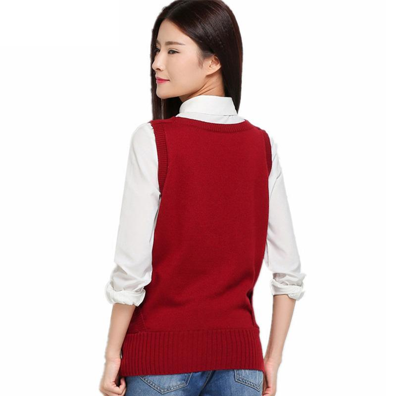 Autumn Ruffled Collar Cashmere Blend Knitted Vest Fashion Casual Sleeveless Waistcoats-Coats & Jackets-SheSimplyShops
