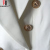 HAGEOFLY 2018 Design Black White Blazer Women Work Office Formal Double Breasted Buttons Blazers Autumn Plus Big Size Blazers