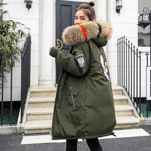 Tcyeek Winter Jacket Women 2018 parka feminina Thick Warm Coats Female Jackets Down Cotton Coat Ladies Clothes Faux Fur Collar-SheSimplyShops