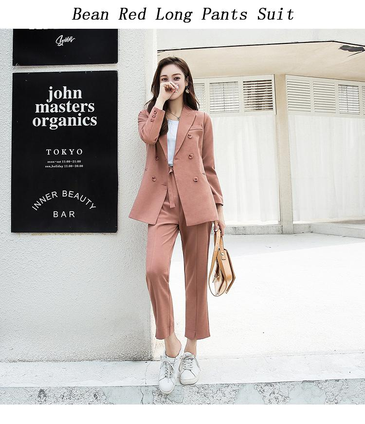 Elegant Work Business Pants Suits For Women Single Breasted Blazer Jacket And Shorts Two-piece Set Female Office Uniform