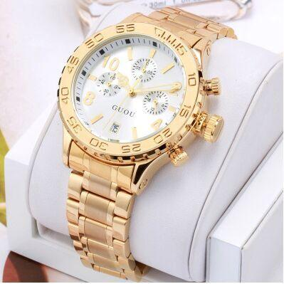 Fashion Brand Calendar Gold Luxury Top Quality Watch Waterproof Man Ladies Gift Quartz Sports watch Exquisite Wrist watches