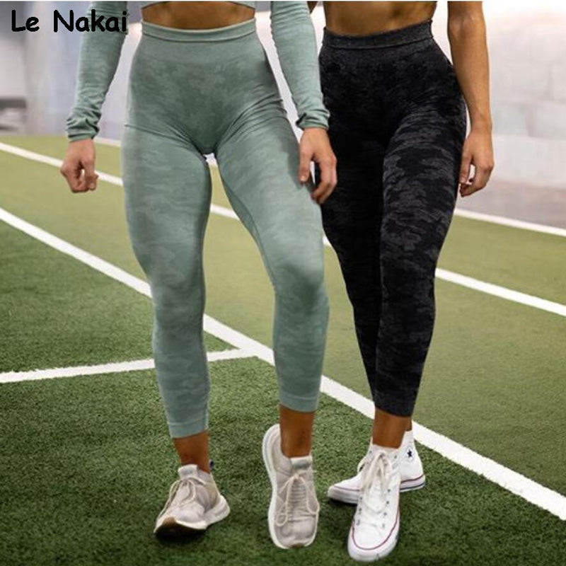 New Green Camo Seamless Leggings Sport Women Fitness Gym Leggings High Waisted Energy Yoga Pants Flex Vital Athletic Legging