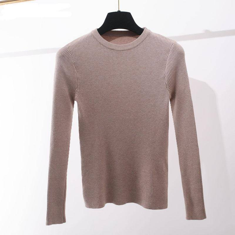 Knitted Women o-neck Sweater Pullovers spring Autumn Basic Women Sweaters Pullover Slim Fit top