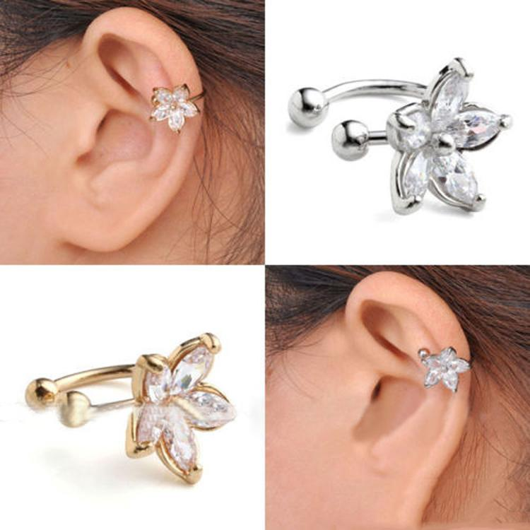1pc Women's Outstanding Crystal Ear Cuff Clip Earing No Piercing Jewelry Gift-JEWELRY-SheSimplyShops