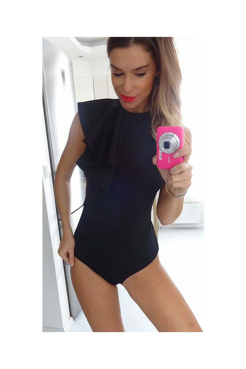 women's sexy Ruffles Bodysuit Bodycon romper&jumpsuit party playsuit casual