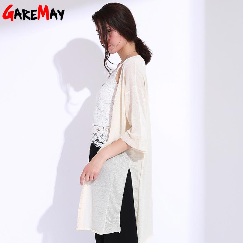 Women Summer Knitted Cardigan Loose Capes Long Cardigan Ladies Poncho Female-KIMONOS + PONCHOS-SheSimplyShops