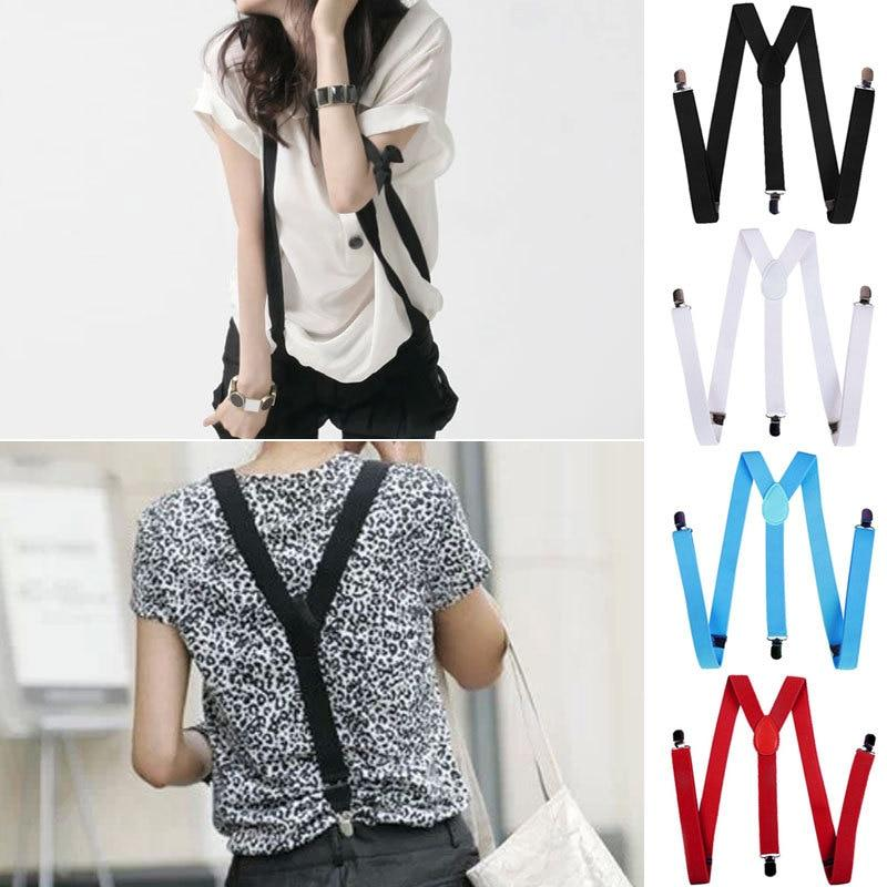 New 17 Colors Fashion Women Lovely Elastic Adjustable Strap Clip Suspenders Clothing Accessories