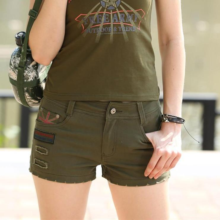 Army Green Women Shorts Mini Shorts Summer Women Loose Casual Pantaloon Camouflage Shorts-PANTS-SheSimplyShops