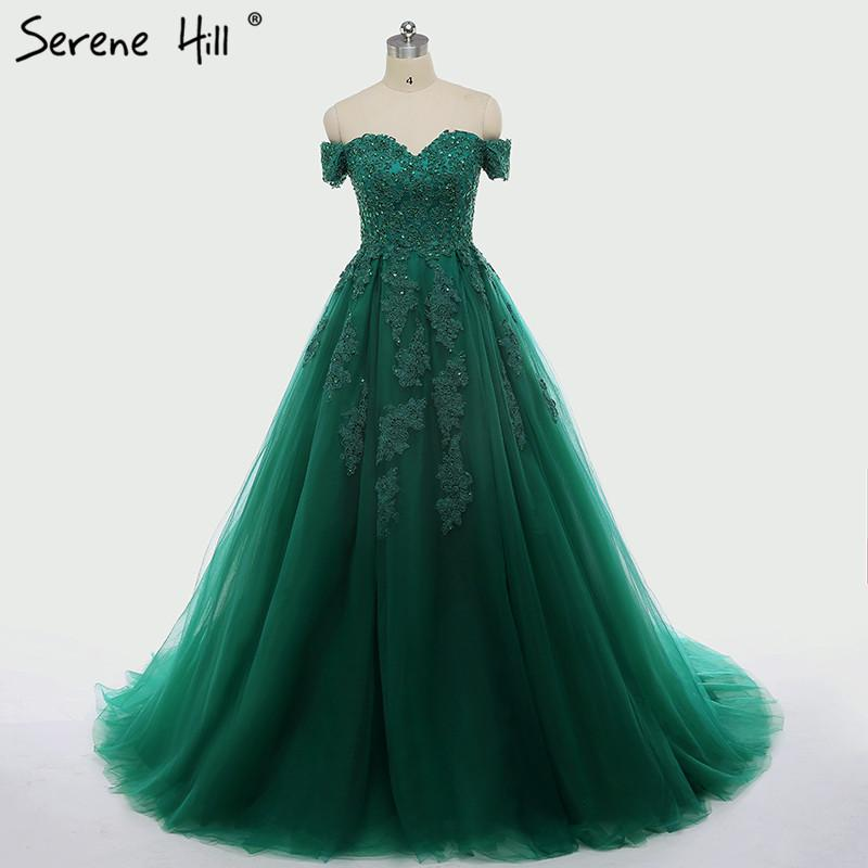 New Green Short Sleeves Tulle Wedding Dress Sequined Beading Photography Sexy Bride Dress Robe-Dress-SheSimplyShops