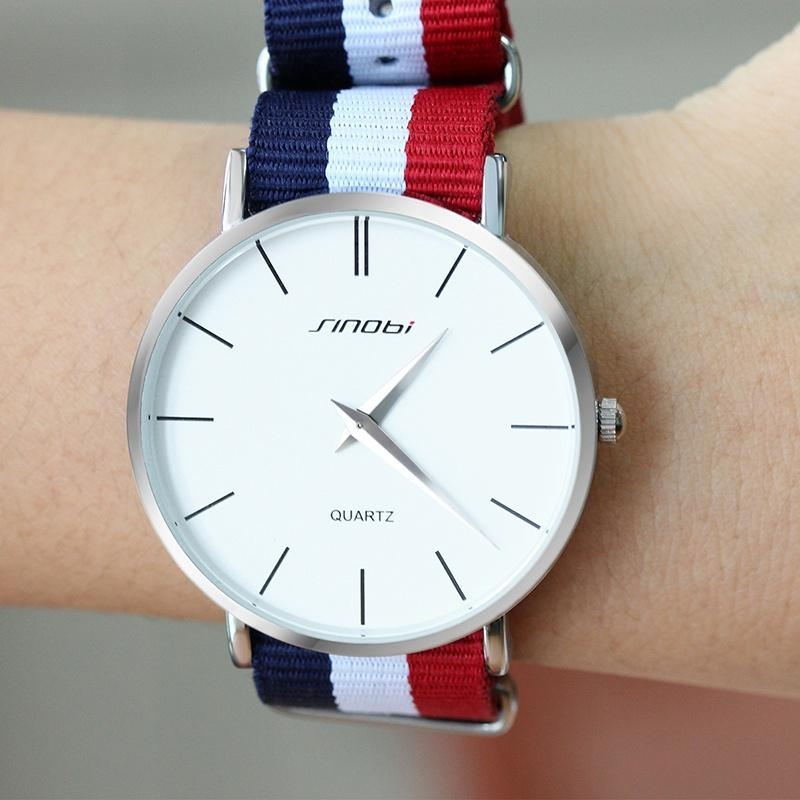 Unisex Fashion Wristwatches Colorful Male Watches NATO Strap Nylon Watchband Top Luxury Brand Couple Geneva Quartz Clock-Dress-SheSimplyShops