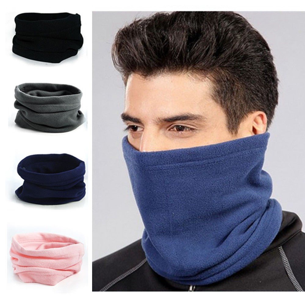 1PC Hot Sale Fashion Unisex Women Men Winter Spring Casual Thermal Fleece Scarfs Snood Neck Warmer Face Mask Beanie Hats