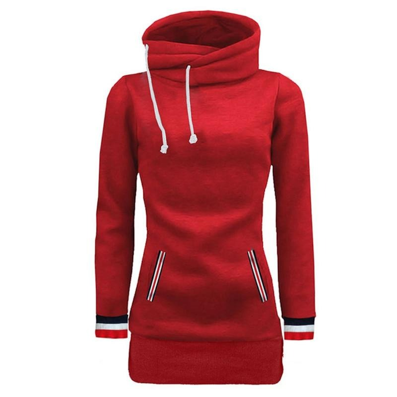 BHflutter Women Winter Clothing 2018 Hooded Sweatshirts Jackets Solid Long Sleeve Casual Hoodies Female Fashion Red Tracksuits