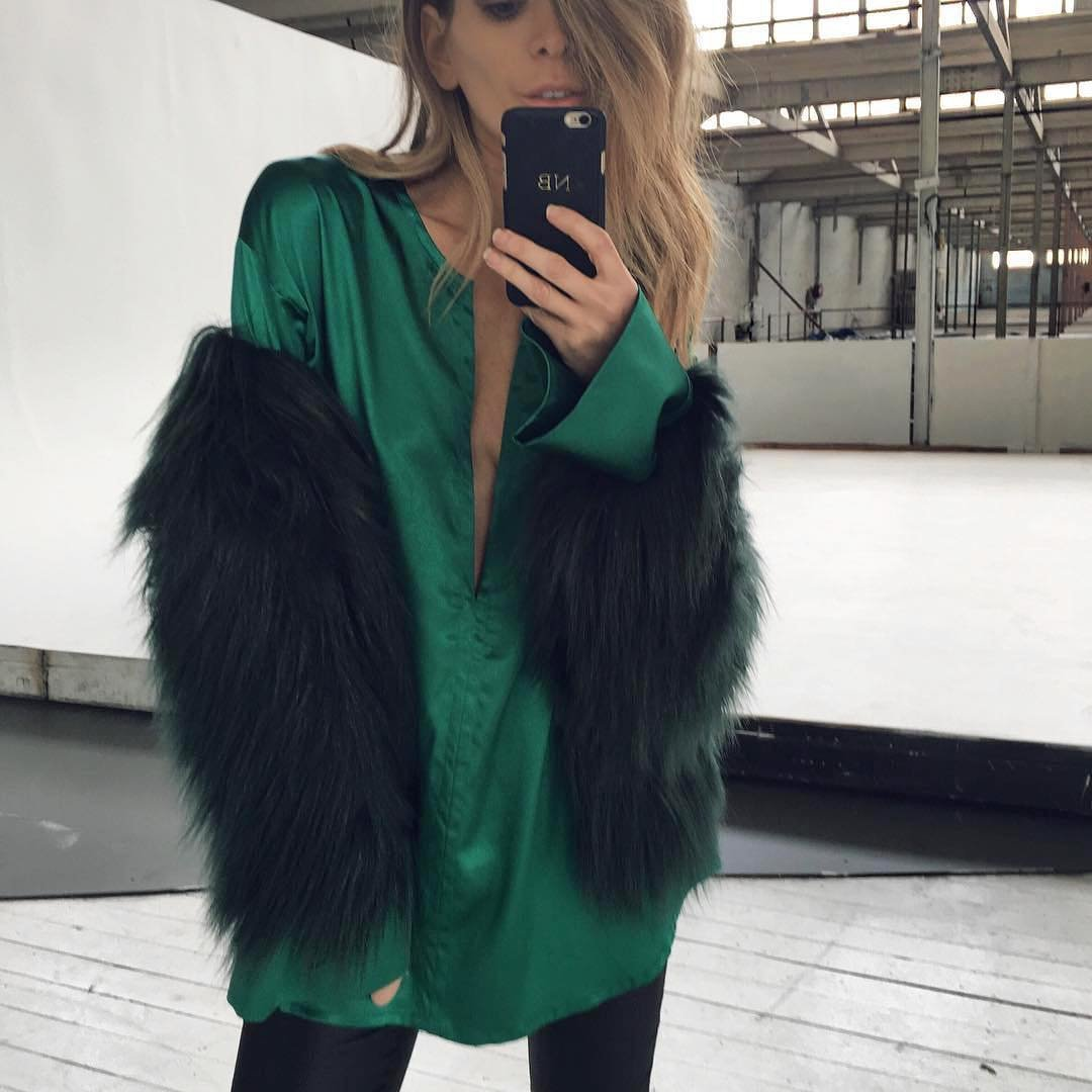 Floating Hair Jacket Fur Coat Women Lady Fur Overcoat Imitation Fur Faux Fox Jackets Hairy Party Fur Warm Coat Plus Size XXXL