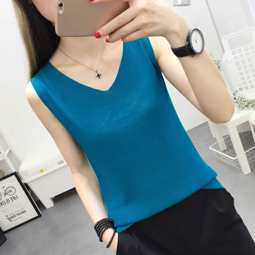 Solid Slim Women tank Tops Summer Sleeveless Jersey Cotton Tanks Camis Tees For Woman Top White Black Multicolor Vest