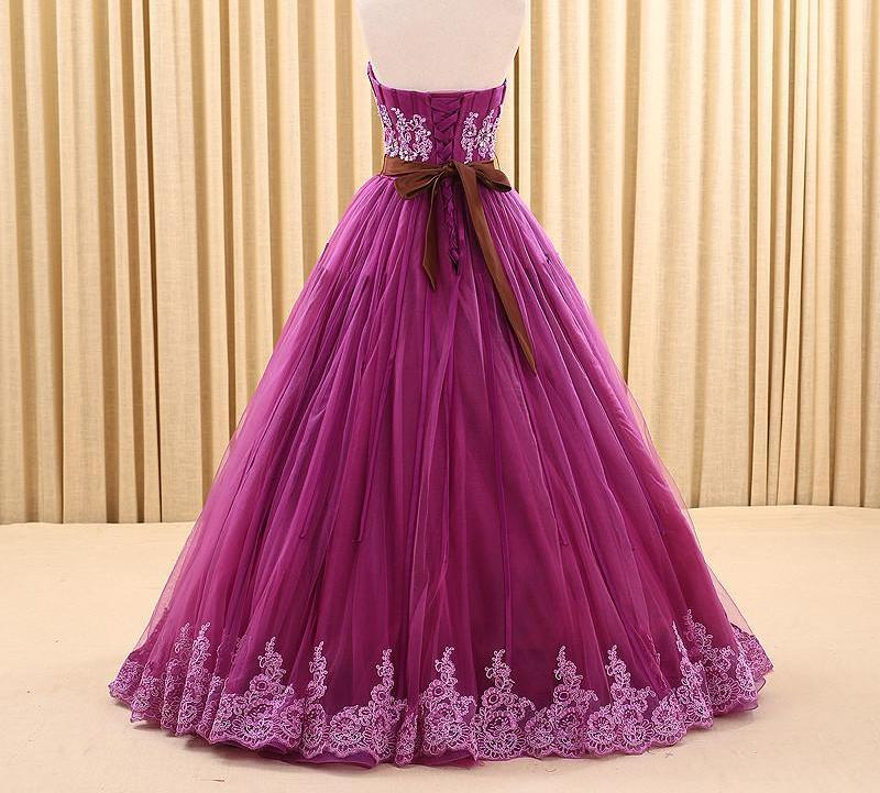 Sexy Off The Shoulder Wedding Dress Purple Appliques Crystal Photography Tulle Bride Dress-Dress-SheSimplyShops