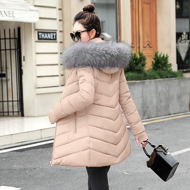 Winter Parka Women 2019 Fur Jackets Slim Thick Large Real Raccoon Fur Hooded Coats Fox Fur Lining Outwear Top Brand Quality