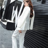 Classic Double Breasted White Women Pant Suits Notched Collar Blazer Jacket & Straight Pants Office Ladies Female Sets 2018