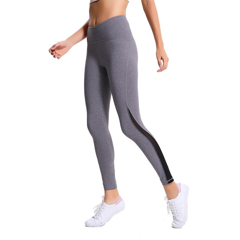 NWT 2018 Women Sports Pant Sexy Net yarn leggings 4 way stretch working pants Super Quality Stretch Fabric Size us4-us12