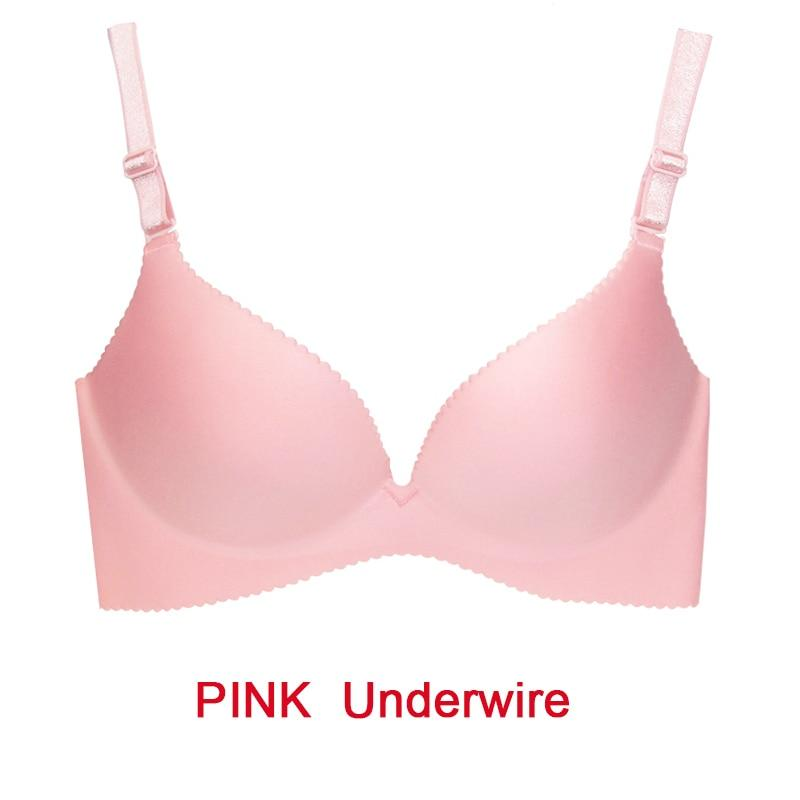 Deep U Cup Bras For Women Push Up Lingerie Seamless Bra Wire Bralette Backless Intimates Female Underwear