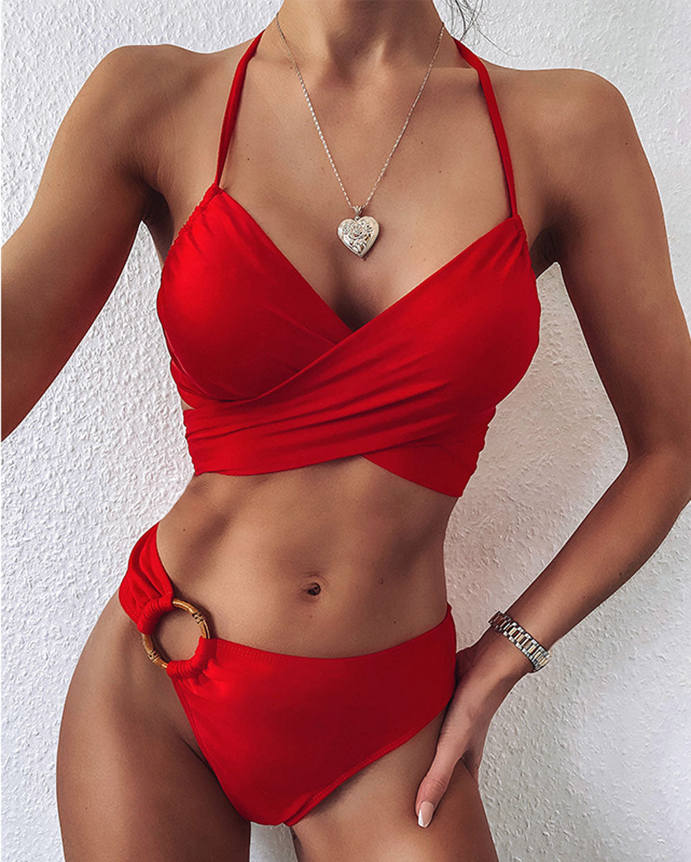 Peachwork Snake Print Bikini set High waist Swimwear Women Hollow out Swimsuit Female Brazilian Bikini Bathers bathing suit