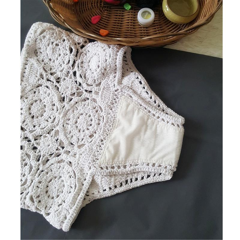 Handmade Swimsuit Knitted Bikini High Waist Swimwear Women Crochet Swimming Suit for Women S-SWIMWEAR-SheSimplyShops