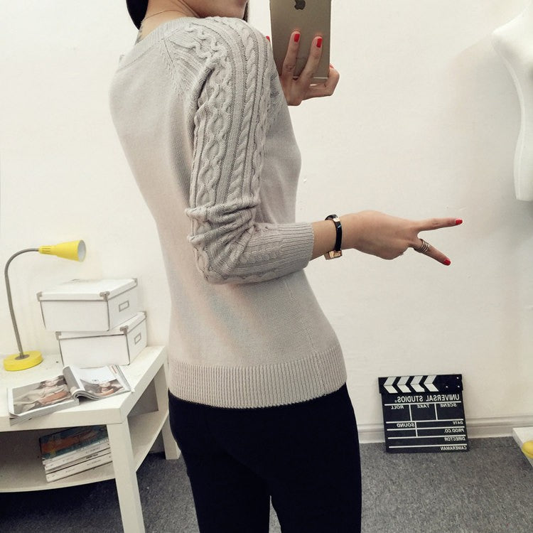 Cheap wholesale 2018 Spring Autumn Winter Hot selling women's fashion casual warm nice Sweater female ladies sexy basic sweater