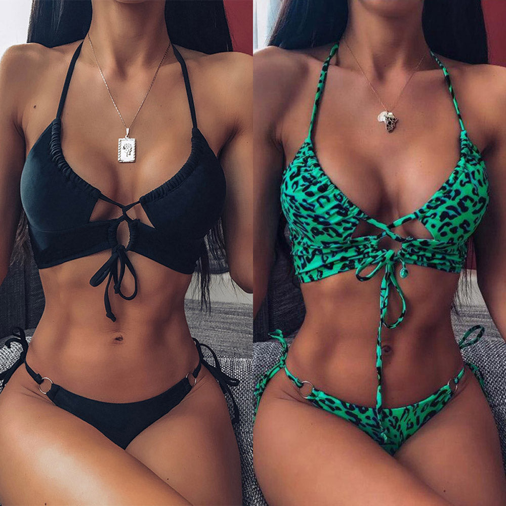 Peachwork Sexy Snake Print Bikini set High waist Swimwear Women Hollow out Swimsuit Female Brazilian Bikini Bathers bathing suit