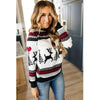 Christmas Sweater 2019 Winter Classic Deer Printed Knitted Pullovers Plus Size Streetwear Long Sleeve Causal Jumpers