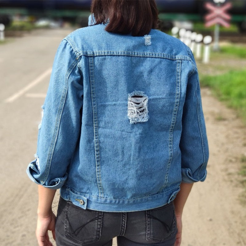 Women Basic Coat Denim Jacket Women Winter Denim Jacket For Women Jeans Jacket Women Denim Coat Lady Loose Fit Casual Style