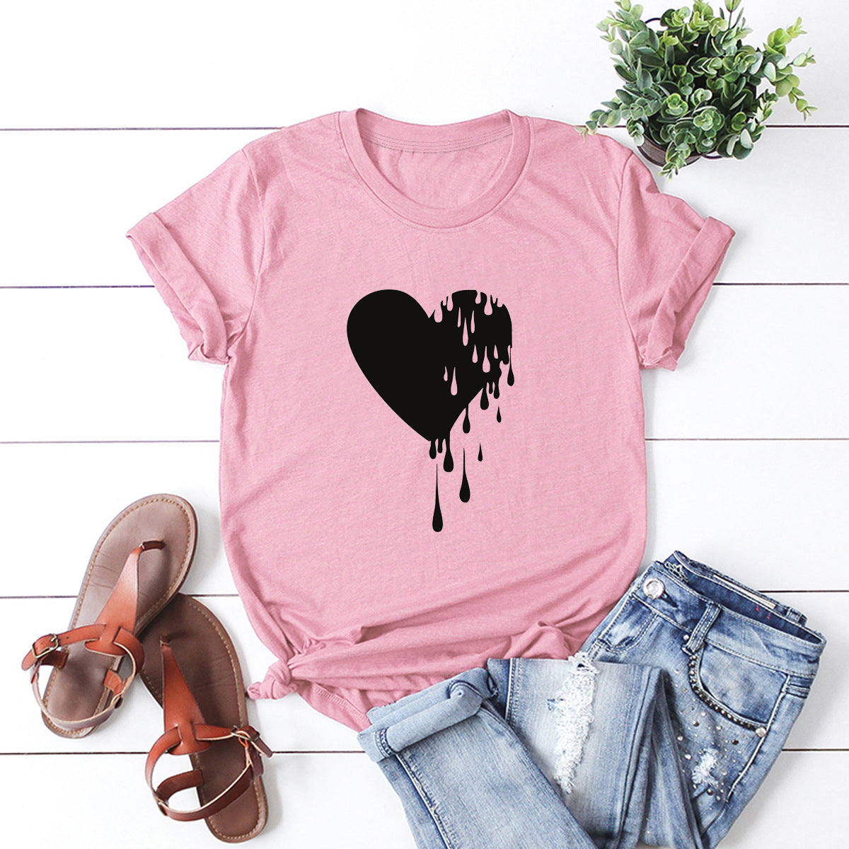 JFUNCY Casual Print Harajuku Graphic Tee Women Shirts Lady Plus Size Summer Loose Tshirts 100% Cotton T-shirts Female Tops