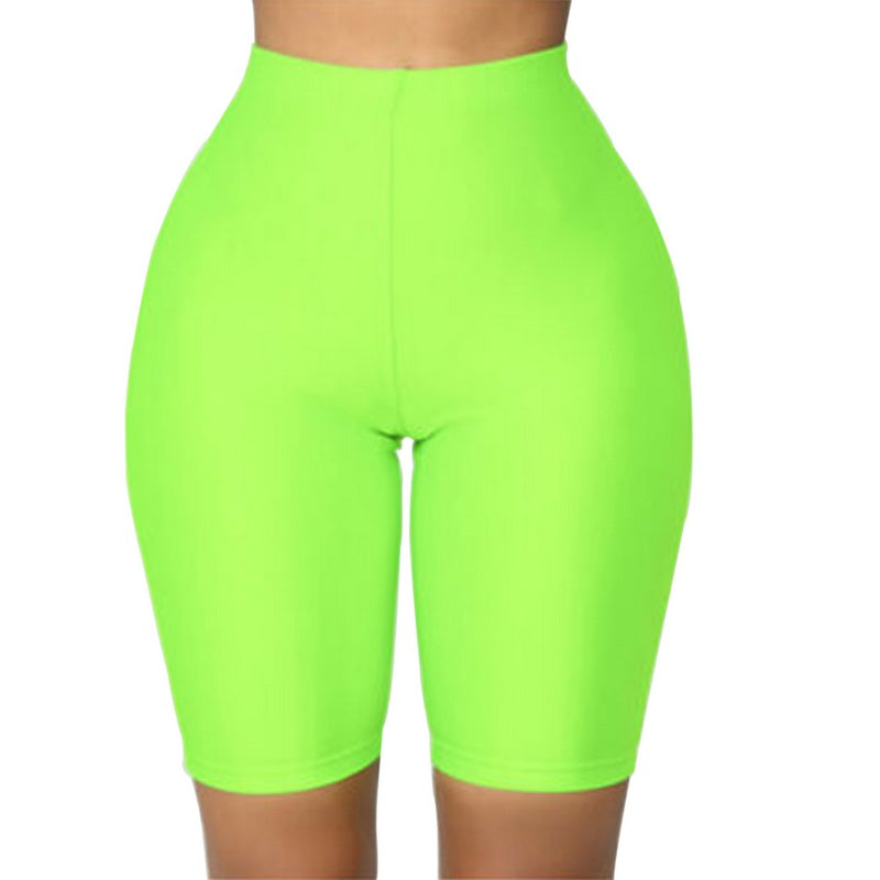 Laamei Women Cycling Shorts Dancing Gym Biker Slim Active Sports Solid Color Skinny Shorts Summer Gym Clothing