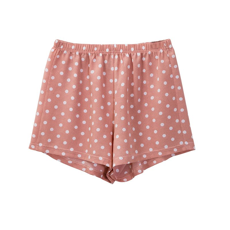 fashion floral chiffon summer women shorts loose beach polka dot girls shorts plus size M30240