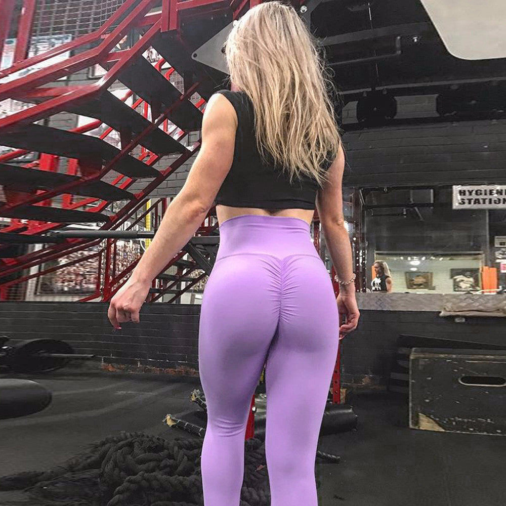 Sexy Women's Leggings Stretchy High Waist Back Ruched Legging Butt Lift Pants Hip Push up Workout Stretch Capris Deporte Mujer #
