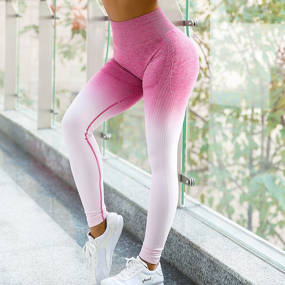 High Waist Yoga Seamless Leggings Workout fitness Gym Compression Pants Sport Yoga running slim Leggings
