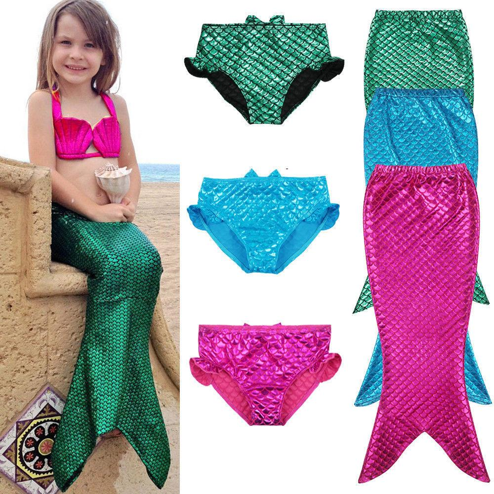 Girl Kids Mermaid Tail Swimwear Swimsuit Girls Bikini Set Bathing Suit Fancy Clothes-SWIMWEAR-SheSimplyShops