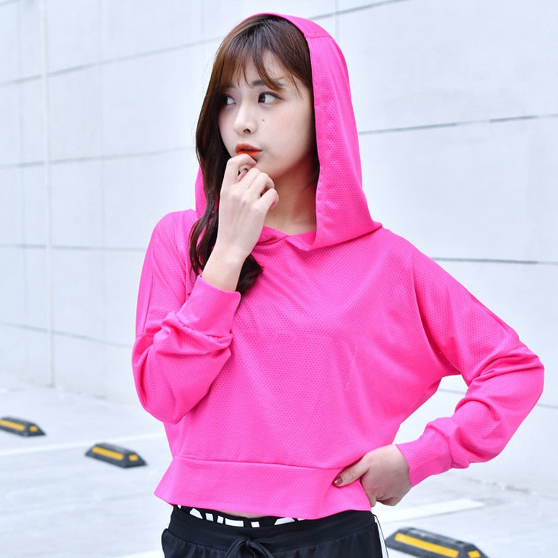 Hoodies Women Sports Clothing Sport Shirt Long Sleeve Hoodie Sweatshirt Yoga Shirt Running Shirt Fitness Yoga Top Sport Jerseys