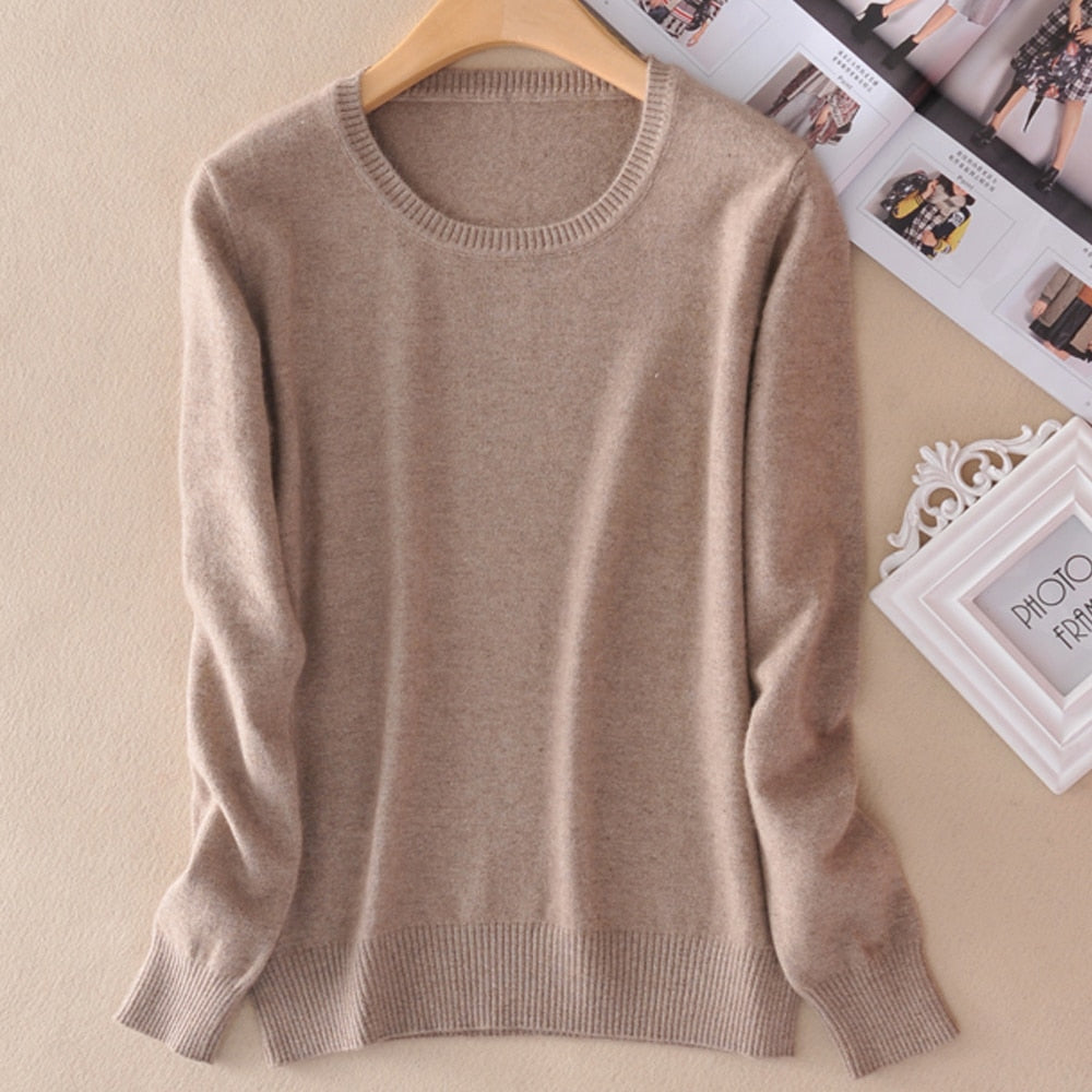 Women Sweater Cashmere Pullover Spring Jumpers O neck Sweaters 14colors Lady Clothes for Girls Knitwear