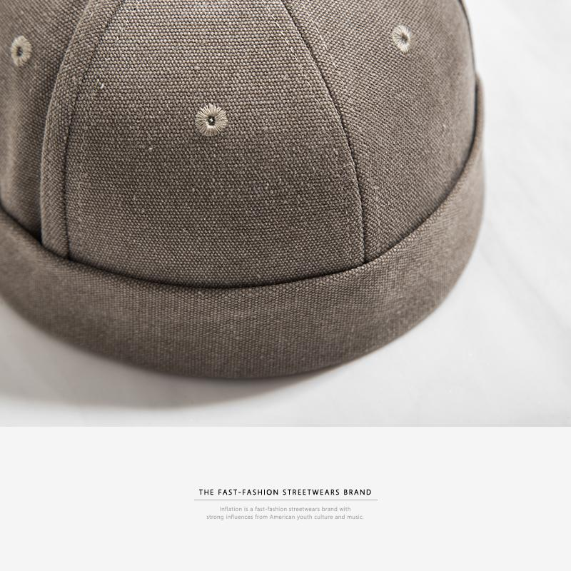 New Round Hat Unisex Snapback Couple Caps Flanging Solid color Fashion Men's hats-HATS-SheSimplyShops