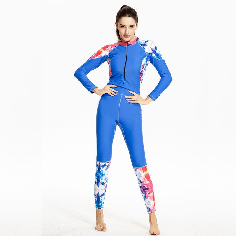 Full Body Women Wetsuit Slim Long Swimsuit Summer Swimming Diving Suits Wetsuits Women One-Piece Swimwear-SheSimplyShops