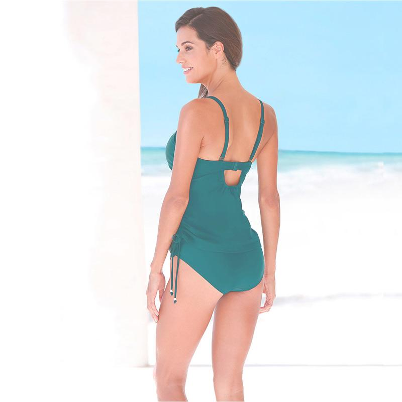 Sexy Women Swimwear Separates Two Piece Swimsuit Solid Color Vintage Swimming Suit for Women-SheSimplyShops