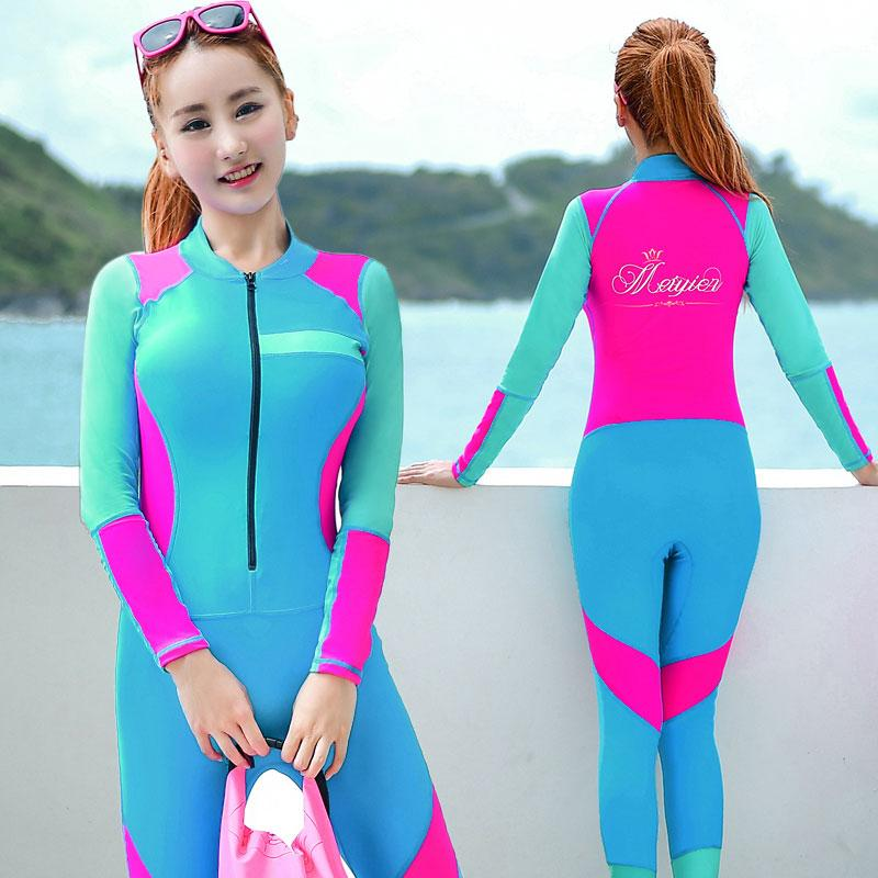 Summer Women Slim Wet suits Women One Piece Swimwear Push Up Female Surfing Diving Swimsuits Wet suit Swimming Bodysuit-SheSimplyShops