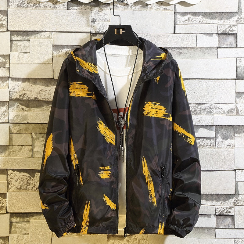 Lusumily Plus Size 8XL Jacket Women Windbreaker Zip Up Hoodies Clothes Doodling Long Sleeve Sport Women Jackets And Coats