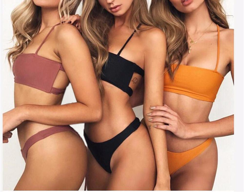 Backless Swimsuit Bandeau Swimwear Bandage Bathing Suit Swimming Suit For Women-SWIMWEAR-SheSimplyShops