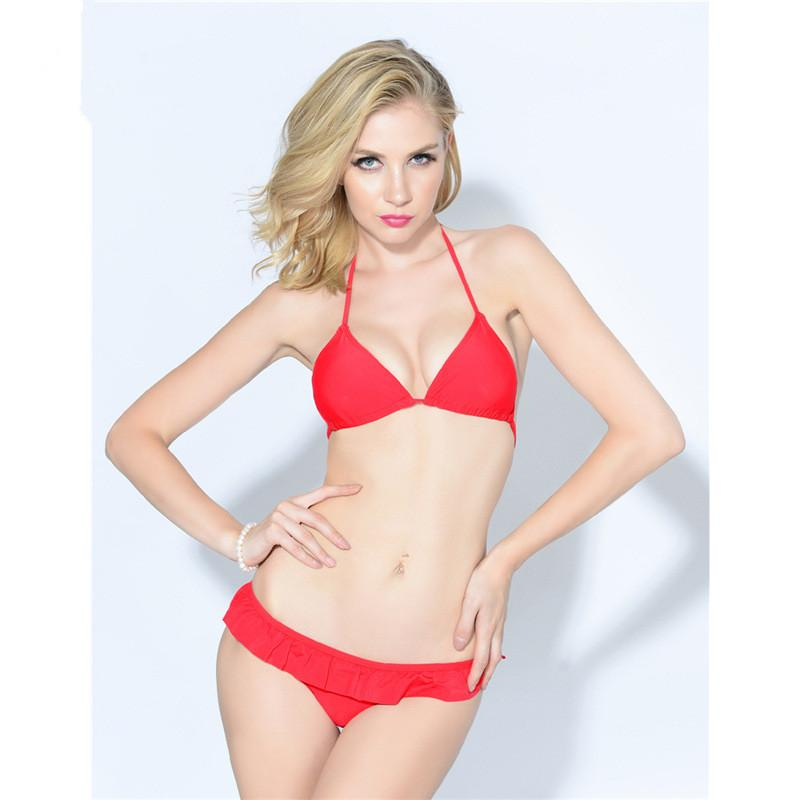 Ladies Red Swimwear Bikini Sexy Stroppy Bikini Set Beach Wear Red Girls Bathing Suit Swimsuit-BAGS-SheSimplyShops