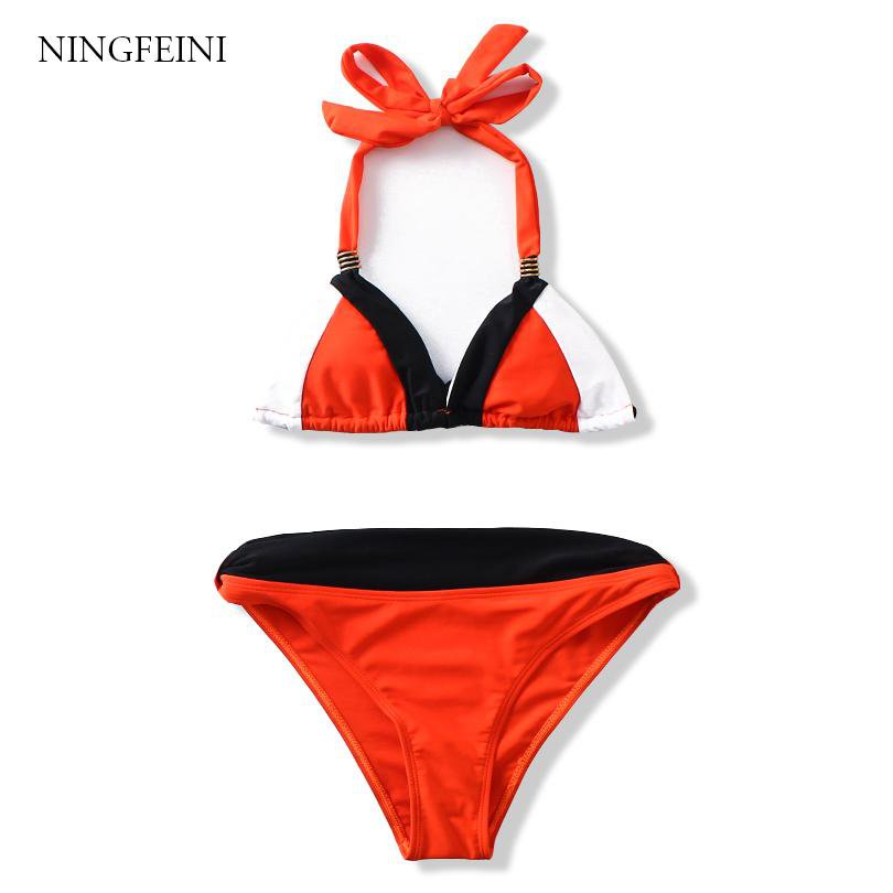 Summer Women Bikini Set Push Up Swimsuits Padded Swimwear Cross Bandage Bathing Suits-SWIMWEAR-SheSimplyShops