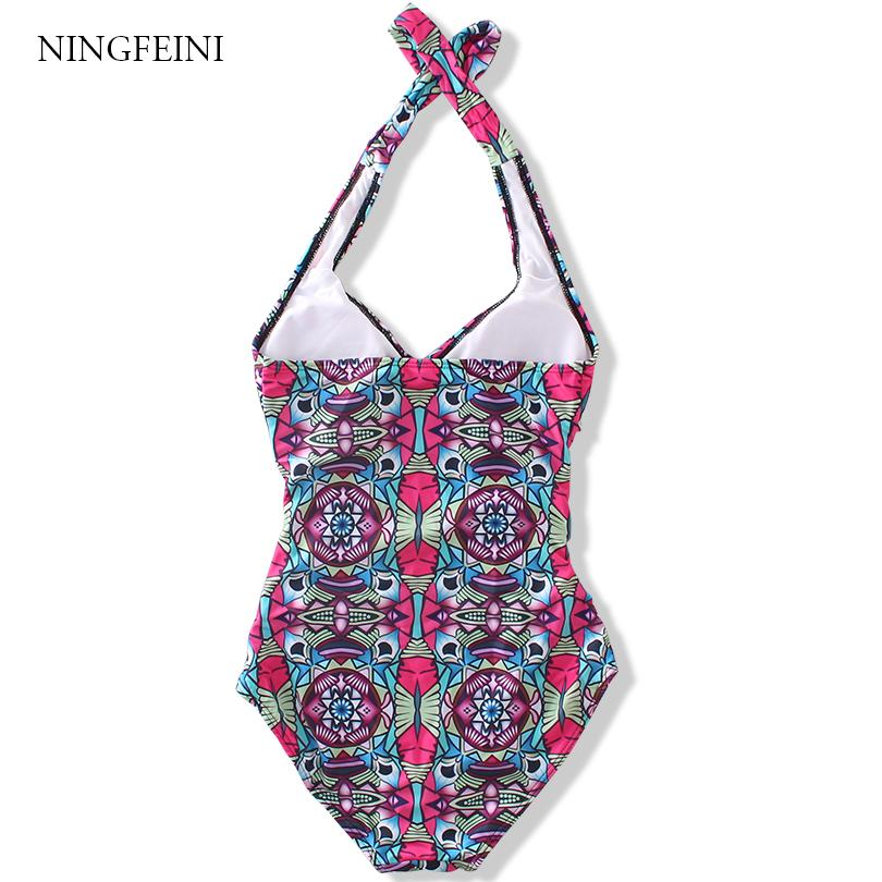 Women's Cartoon Print High Waist Backless Hollow Out Triangle Swimwear Bathing Suit Swimsuits-SWIMWEAR-SheSimplyShops