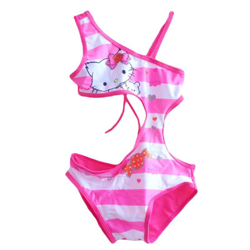 Summer Girls Swimsuit Children Swimwear Kids One Piece Swimming Suit Hello Kitty Beach Wear-SWIMWEAR-SheSimplyShops
